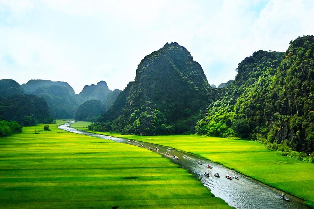 du lịch Ninh Bình bằng xe máy quanh Thung Nắng